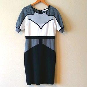 Karen millen color block dress with tags